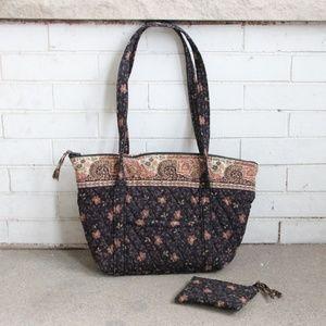 Vera Bradley Set Black Walnut Purse Handbag